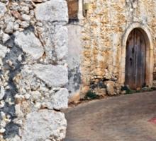 Old Cretan village Sticker