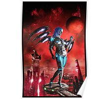 Robot Angel Painting 025 Poster