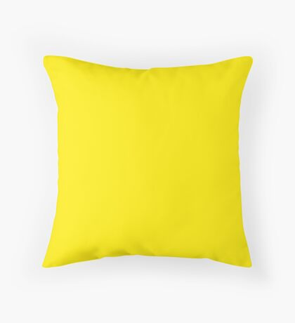 Yellow   Solid Color Throw Pillow