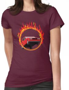 Jump into the ring of fire Womens Fitted T-Shirt