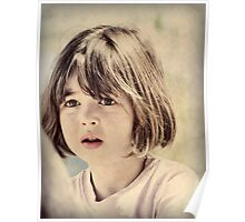 Child in Vintage Hues Poster