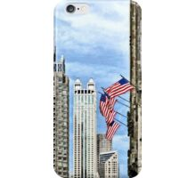 Chicago - Flags Along Michigan Avenue iPhone Case/Skin