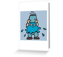 ice bucket  challenge Greeting Card