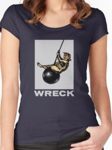 trump...the wrecking ball Women's Fitted Scoop T-Shirt