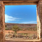 View Through an Outback Australian Window by Adrian Paul