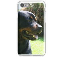 A Rottweiler named BO. iPhone Case/Skin
