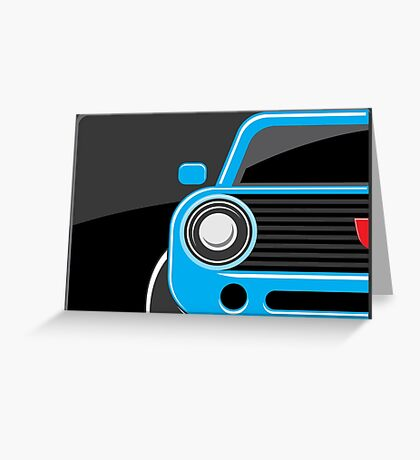 Classic car blue color Greeting Card