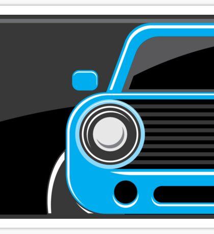 Classic car blue color Sticker