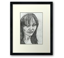 Old and Tired Self Portrait Framed Print