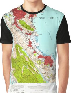 USGS TOPO Map California CA San Mateo 301598 1939 62500 geo Graphic T-Shirt