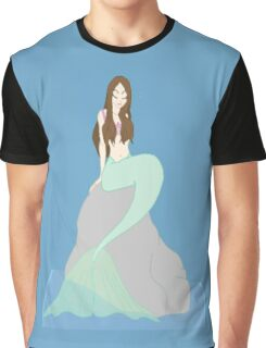 Mermaid Sitting On A Rock - (Designs4You) Graphic T-Shirt