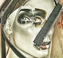 Punk collage woman 3 by cherylkerkin
