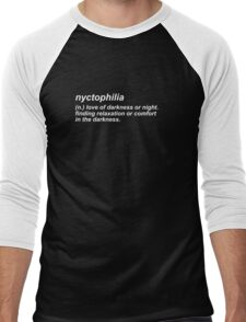 nyctophilia  Men's Baseball ¾ T-Shirt