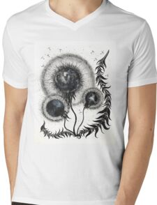 Dandelimoon Mens V-Neck T-Shirt