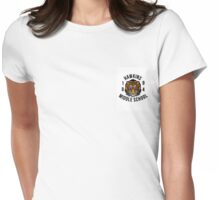 Hawkins Middle School Logo Womens Fitted T-Shirt