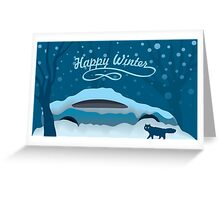 Snowmobile Greeting Card