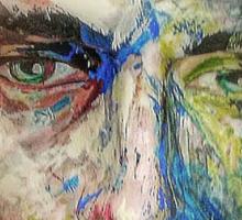 Mannequin painted bravura style Sticker