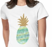 Be a Pineapple Womens Fitted T-Shirt