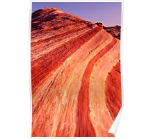 Fire Wave Sunset - Valley Of Fire - Nevada Poster