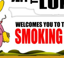 Jeff The Diseased Lung - Smoking Section Sticker