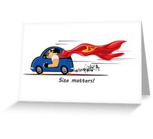 Small car driver Greeting Card