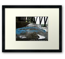Ice Cube In Blue Disquise Framed Print