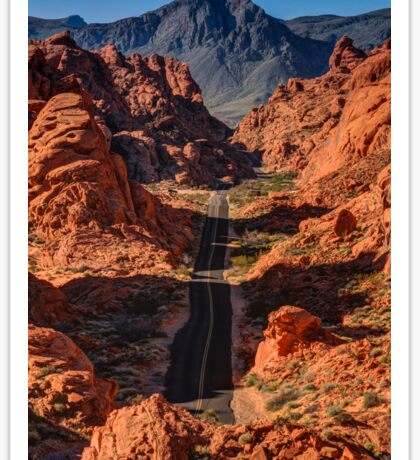 Mouses Tank Road - Valley Of Fire - Nevada Sticker