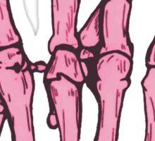 Skeleton hand | Pink Sticker