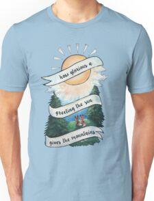 Fox Mountain Morning Sunrise Design Unisex T-Shirt