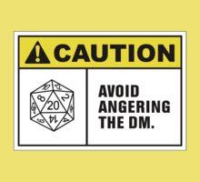 Caution Avoid Angering the DM Kids Tee