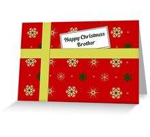 Brother red Christmas parcel card Greeting Card