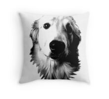 Who Me? Funny Dog Expressions. Golden Retriever Images. Throw Pillow
