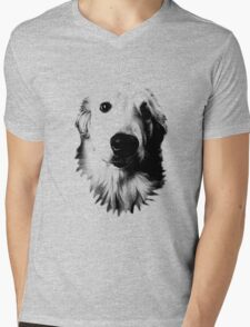 Who Me? Funny Dog Expressions. Golden Retriever Images. Mens V-Neck T-Shirt