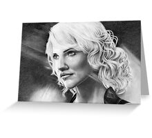 'Caprica 6' Battlestar Galactica Greeting Card