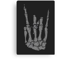 Skeleton hand | Black Canvas Print