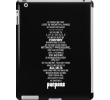 PURPOSE (black) iPad Case/Skin