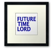 Doctor Who - Future Time Lord Framed Print