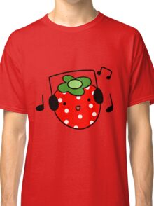 Strawberry with Headphones Classic T-Shirt