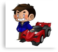 James and Toy Car  Canvas Print