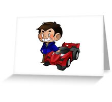 James and Toy Car  Greeting Card