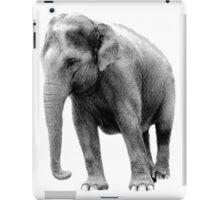 Indian Elephant. Wildlife Digital Engraving Image iPad Case/Skin