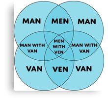 Men With Ven Venn diagram Canvas Print