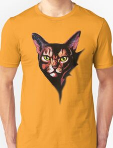Cat Portrait Watercolor Style T-Shirt