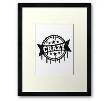 tropfen graffiti stempel patentiert banner schriftzug elegant text schrift logo design cool crazy verrückt verwirrt blöd dumm komisch gestört  Framed Print