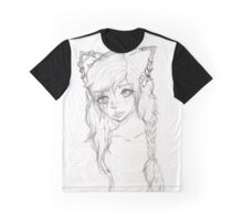 Hipster Doggirl Graphic T-Shirt