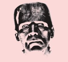 Frankenstein's Monster. Spooky Halloween Digital Engraving Image Kids Tee