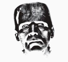 Frankenstein's Monster. Spooky Halloween Digital Engraving Image Kids Clothes