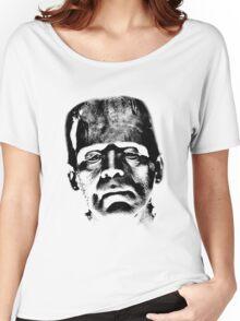 Frankenstein's Monster. Spooky Halloween Digital Engraving Image Women's Relaxed Fit T-Shirt