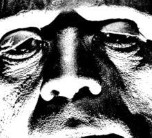 Frankenstein's Monster. Spooky Halloween Digital Engraving Image Sticker
