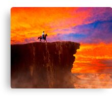 Sunset On The Wild West Canvas Print